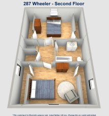 287 Wheeler Street Akron Ohio. BEST three bedroom house at the University of Akron. Roo Town Rentals offers the best student housing in Akron.