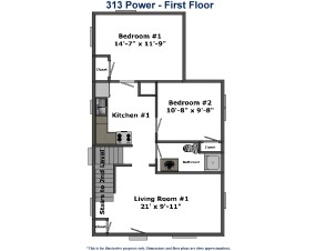 313 Power Street Student Housing Akron Ohio. Roo Town Rentals offers the best off campus housing options for students at the University of Akron.
