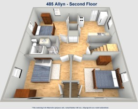 485 Allyn Street Akron Ohio. Six bedroom house at the University of Akron. Roo Town Rentals offers the best student rental properties in Akron.