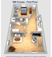 509 Crouse Street First Floor Layout University of Akron Rental Home