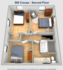 509 Crouse Street Second Floor Layout University of Akron Rental Home